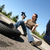 flat car or truck tire change service